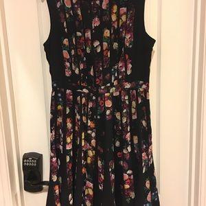 Pleated knee length dress,